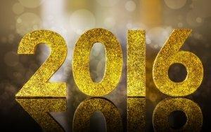 Golden 2016 glitter