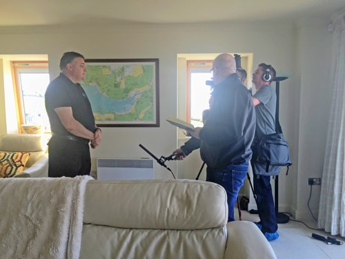 SAGE software filming CSB carpet cleaning