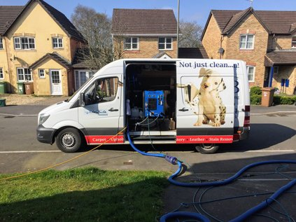 CSB carpet cleaning van