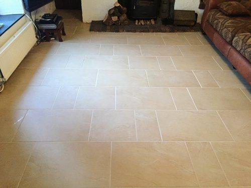 Clean dining room Ceramic floor