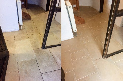 Hallway Ceramic tile cleaning