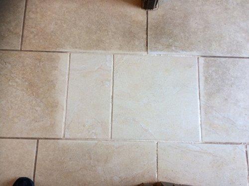 Demo clean on a Ceramic tile