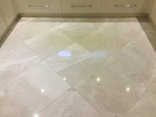 High polished Creme Marble floor