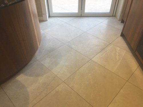 Honed Creme Marble Floor