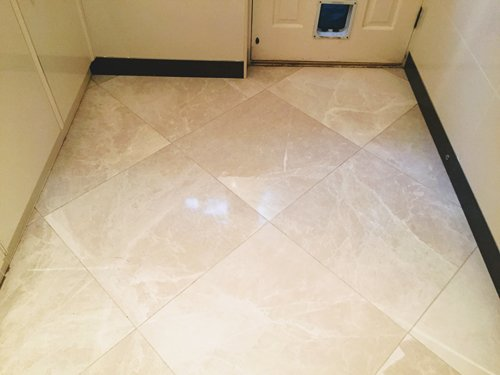 White Marble tiles after cleaning