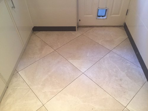 Creme Marble tiles before cleaning