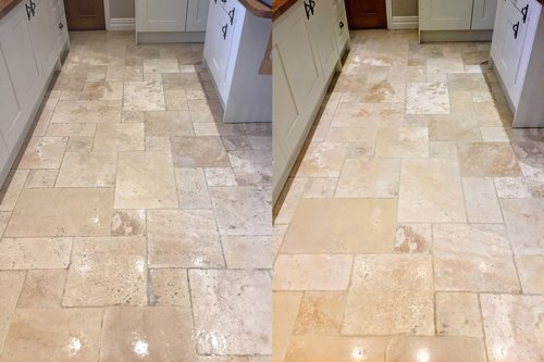 Travertine Tumbled cream
