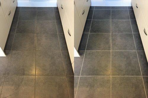 Blue Porcelain Tile Floor Cleaning Csb Cleaning Ltd