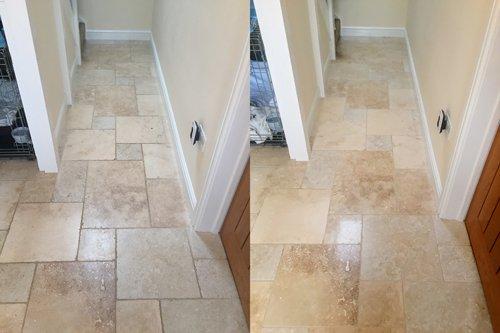 Travertine Tumbled Tiled Floors