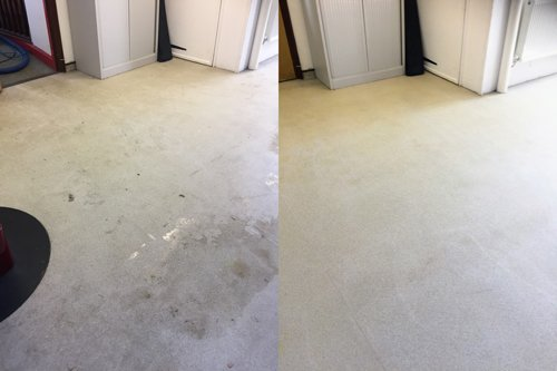 Altro floor restoration dirty and clean