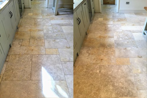 Jerusalem Brushed Limestone kitchen floor