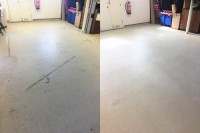 Grim removed from a white Altro safety floor