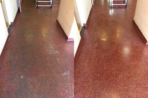Altro red floor cleaning results