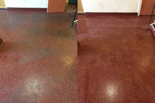 Altro safety floor cleaning