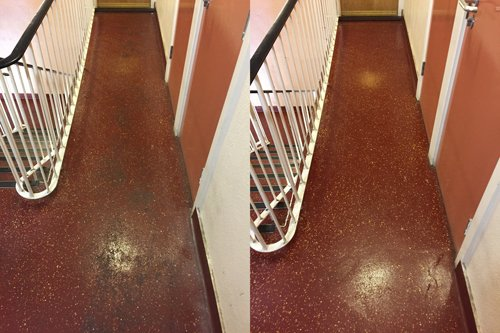 Altro safety resin floor stairs clean