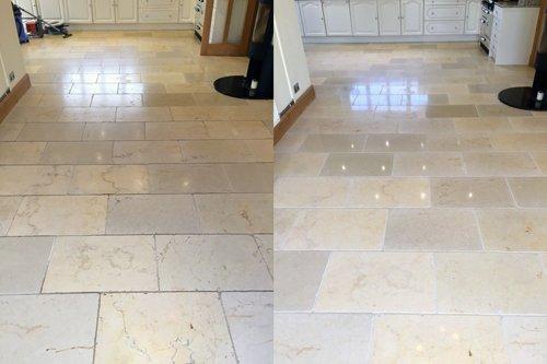Polished vs unpolished Travertine flooring