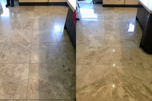 Polished vs unpolished Queen Beige Marble floor
