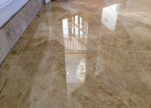 Mirrored finish Marble floor reflection