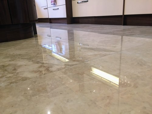 Marble floor reflection