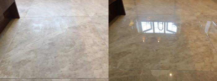 Honed vs polished Marble floor in Bristol