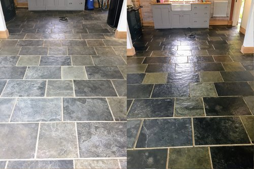 Chinese Slate Floor Revitalised To Perfection Csb