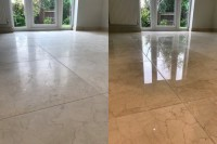 High shine polished marble floor