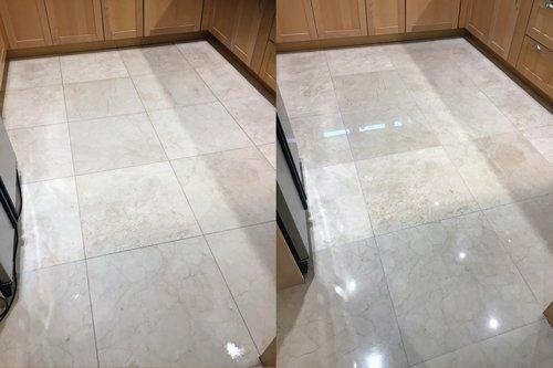 White Marble floor high shine