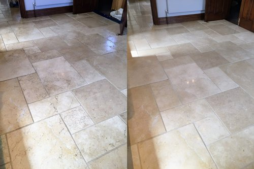 Limestone Floor Kitchen