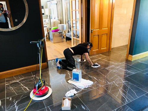 Ceramic floor restoration