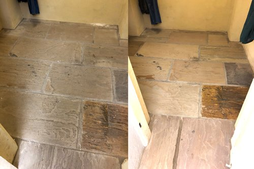 Margam Park Castle flagstone floor restoration
