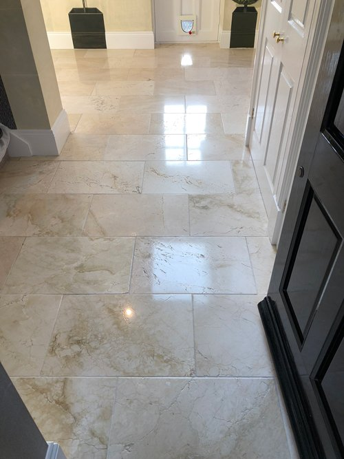 polished limestone