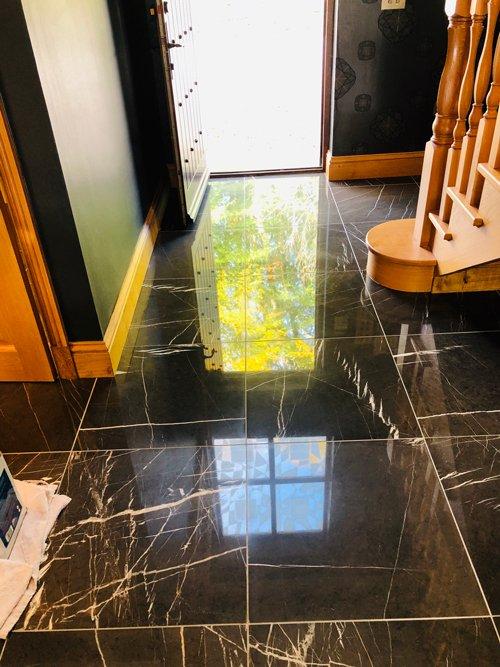 clean Ceramic tile floor