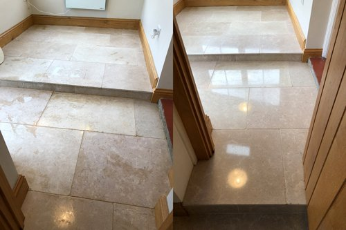 seabed limestone floor before after polishing