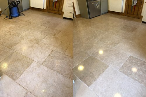 limestone polished before after