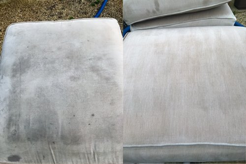 Cushion settee cleaning Bridgend