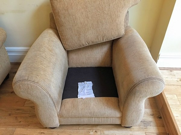 Armchair result after cleaning in Pontypridd